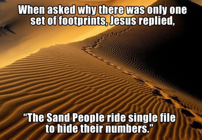 sand people footprints